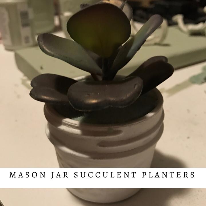 Make it Monday: mason jar succulentplanter