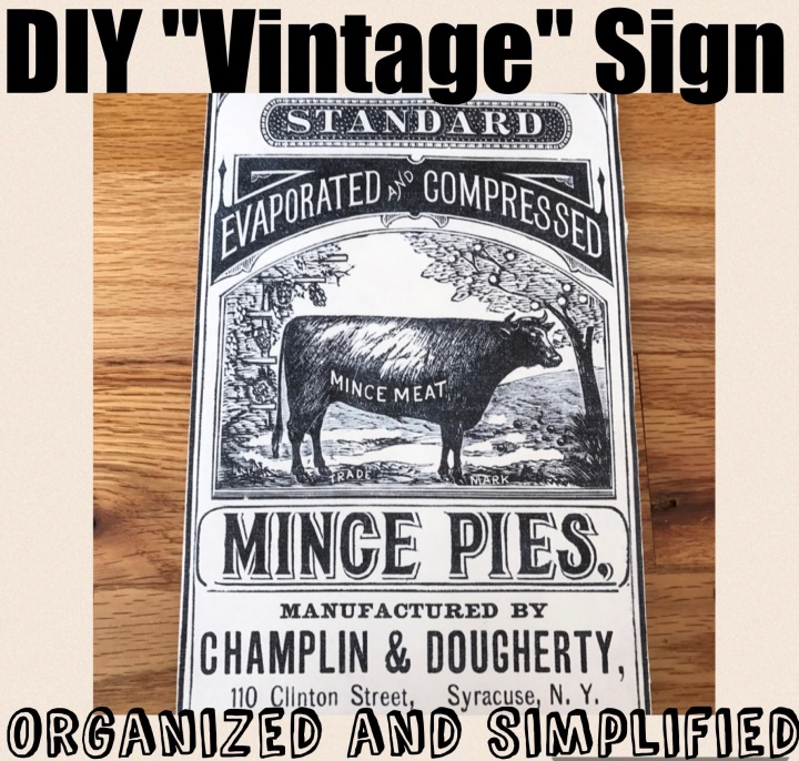 How to make faux vintage signs