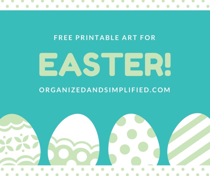 Free Easter printable art