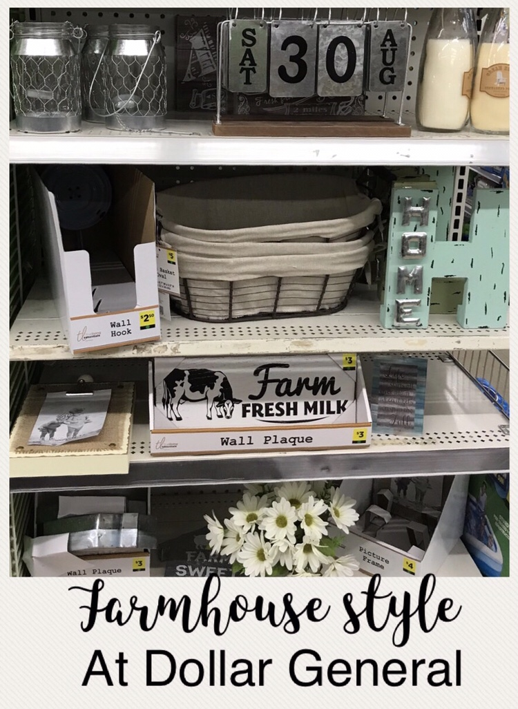 Farmhouse Style At Dollar General Organized And Simplified