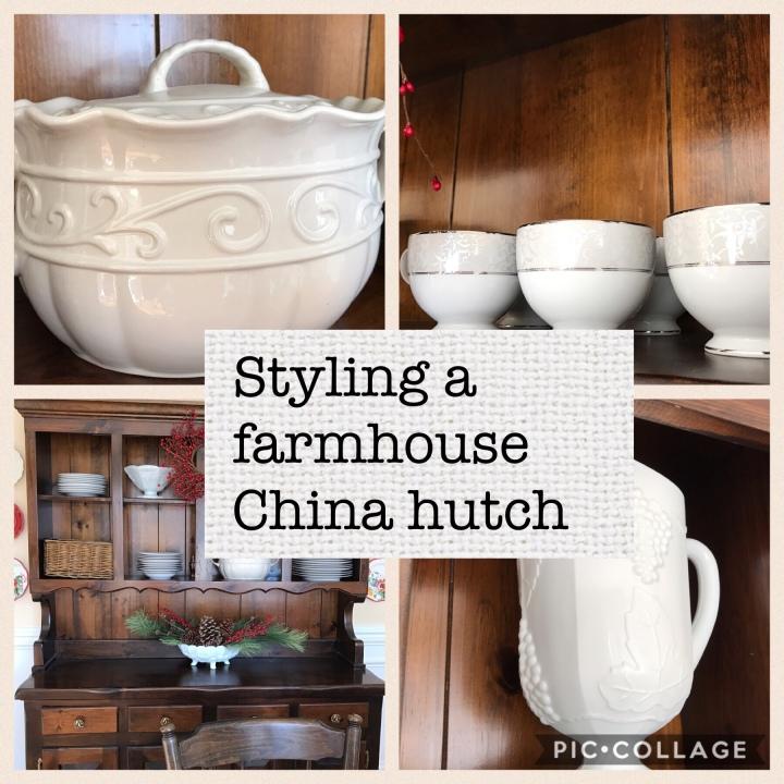 Styling a farmhouse chinahutch