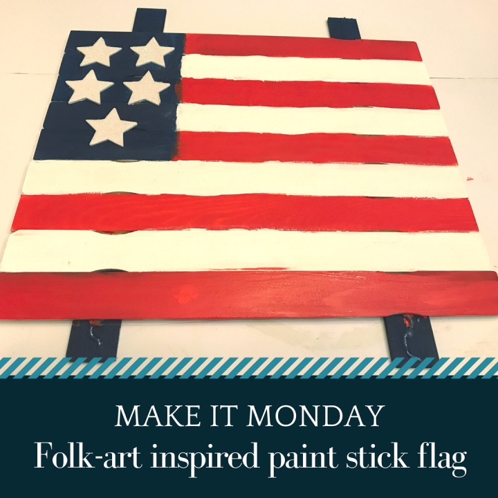 Memorial Day Craft: How to Make a Paint Stick Flag