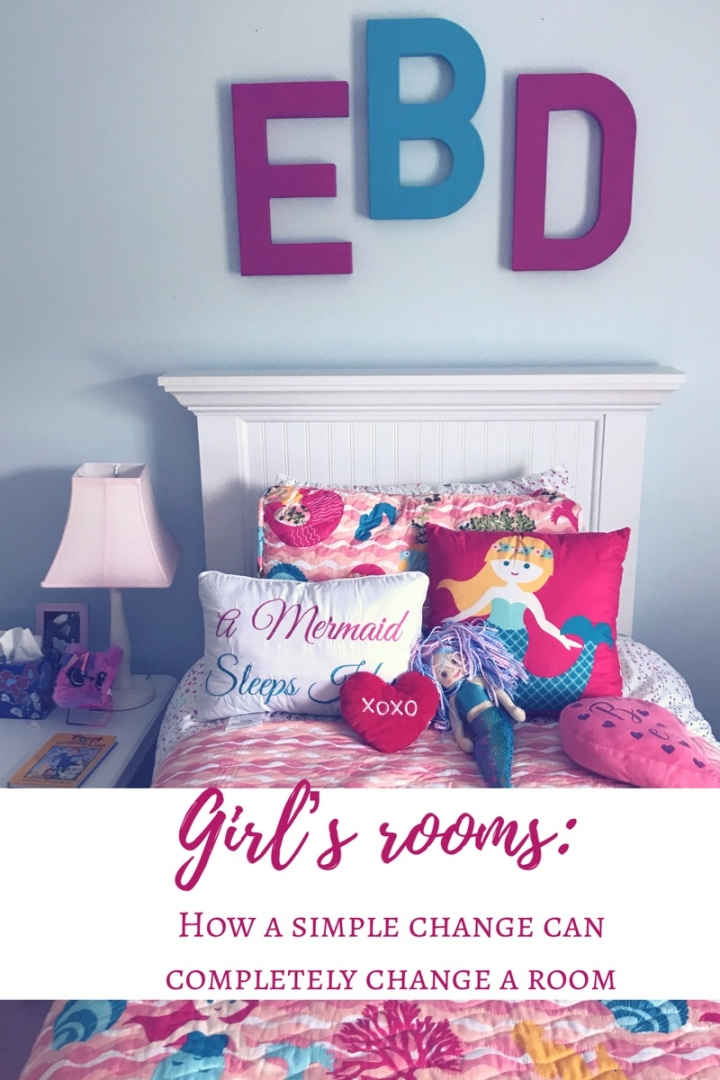 Girls' rooms: how a simple change can change the look of the entire room