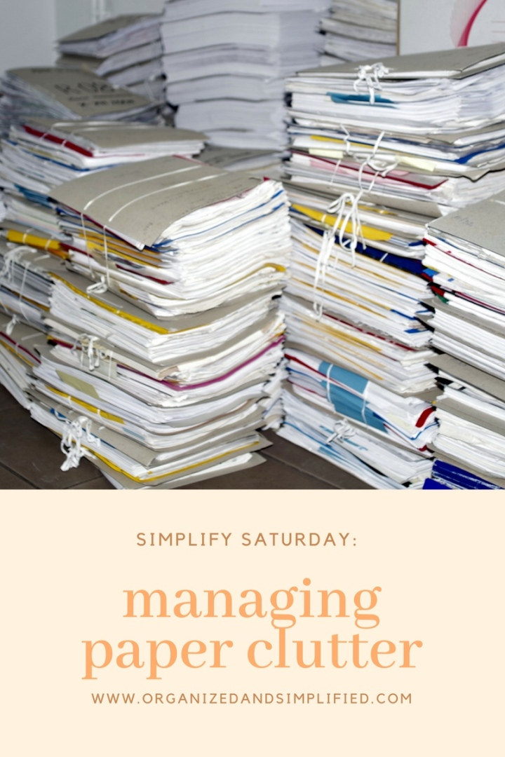Managing paper clutter