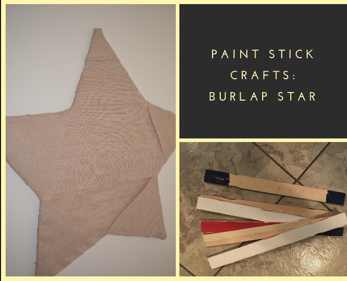 Make it Monday: Paint stick burlap star