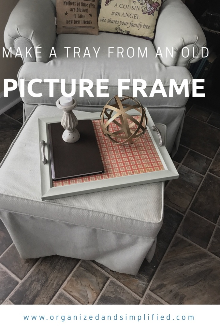 Make a tray from an old picture frame