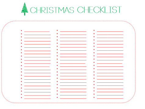 Christmas checklist - Copy