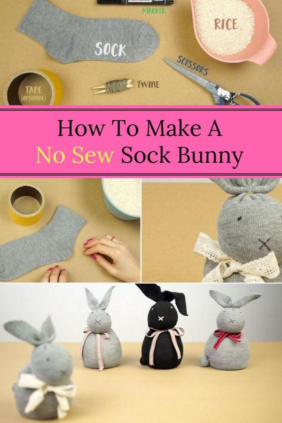No-Sew-Sock-Bunny